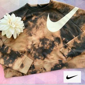 ✔️ Nike Cropped Sweater Crew Tie Dye